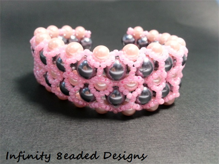 Pearls and Pink Beaded Bracelet