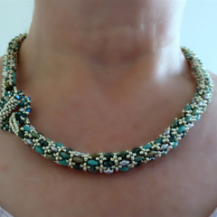 'African Turquoise' Rope Necklace
