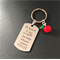 Easter Teacher Gift - Personalised Teacher Gift - Hand Stamped Keyring