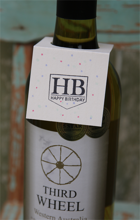 6 Happy Birthday Wine Bottle Gift Tags ~ Birthday ~ Wine Bottle Tag