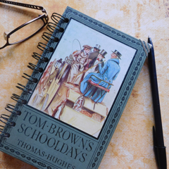 Tom Brown's Schooldays notebook - Thomas Hughes - Made from an upcycled book