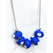 ROCK IT COLLECTION. Brilliant Blue/White Polka Dot Polymer Clay Necklace.