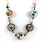 Photobeads altered art long or short adjustable necklace- Waves