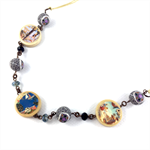 Photobeads altered art long or short adjustable necklace- Cuban ladies