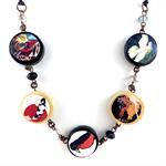 Photobeads altered art long or short adjustable necklace- Koi Carp