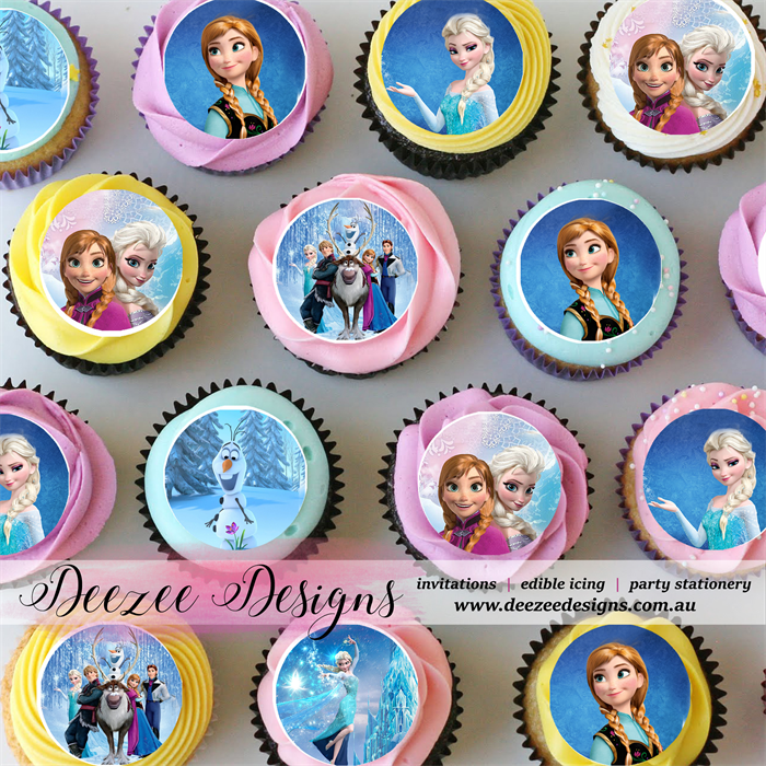 FROZEN  REAL EDIBLE ICING CAKE TOPPER PARTY IMAGE FROSTING SHEET