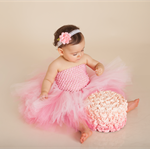 CUSTOM MADE TUTU - SIZE 0-12MONTHS