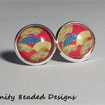 Pattern Stud Earrings