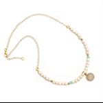 Seville short druzy white necklace