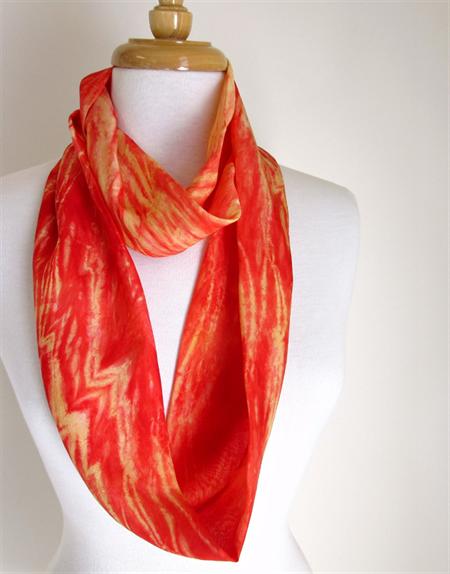 silk infinity scarf handpainted silk scarves