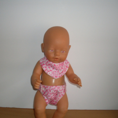 Bib and Nappy set for Baby Born Dolls