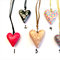 Handcrafted polymer clay heart pendant-multiple designs
