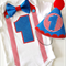 Boys Birthday Outfit. 1st Birthday Onesie and Party Hat. Red White & Blue