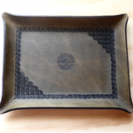 Antique Gray Leather Tray