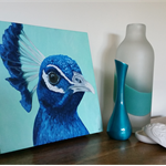 Peacock Original Oil Painting on Canvas
