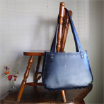 Large Black Handcrafted Leather Tote Bag