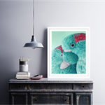 Love Bird Painting Art Print 8x10""