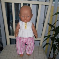 dolls clothes top and pants set