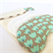 Lavender Eye Mask: Mint tulips with beige chevron back