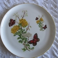 Hand painted and decorated with vintage decals of flowers
