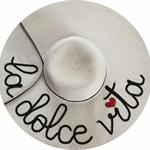 La Dolce Vita Beach Hat   Sequin Message Beach Hat
