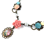 Spring floral necklace