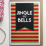 'jingle yo' bells Christmas Greeting card