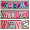 4 PANEL NAME BANNER, Name Garland, Name Bunting, Custom orders