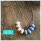 Silicone Necklace • Cream & Serenity Abacus ~ BPA Free • Non-toxic • Washable