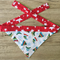 Small Christmas Beanie Bandana (red with stars necktie)