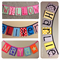 5 PANEL NAME BANNER, Name Garland, Name Bunting, Custom Orders