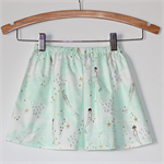 Gorgeous Mint & Gold Mermaid Girls Skirt