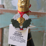 6 Merry Christmas and a Happy New Year Wine Bottle Tag