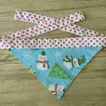 Small Christmas Snowmen Bandana (white necktie)