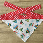 Small Christmas Beanie Bandana (red with polkadots)