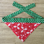 Small Christmas Holly Bandana