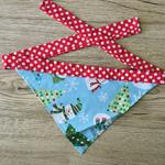Small Christmas Snowmen Bandana (red necktie)