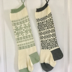 Christmas Stocking Decorations set of two