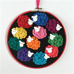 Counting Sheep hoop art