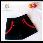 Girls Summer Sailor shorts, size 18 mths