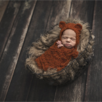 Baby Bear Bonnet  / Newborn Photography / Burnt Orange / Cheeky Monkey Hat