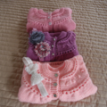 Size 0-6mths hand knitted baby jacket/cardigan: machine washable