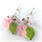 Spring bouquet floral crystal earrings with sterling silver hooks