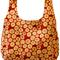 Reversible cotton market bag: modern prints in terracotta