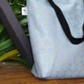 Grey & gold Honeycomb Canvas Tote Bag
