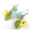 Summer bouquet crystal earrings with sterling silver hooks