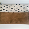 Crescent Tan Nappy Diaper Carry All Clutch Pouch Wallet