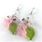 Spring bouquet crystal earrings with sterling silver hooks