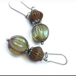 stainless steel olive vintage look earrings