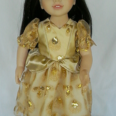 Gold Princess Gown